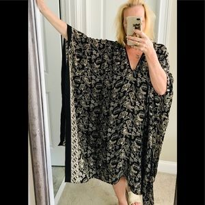 Maggie Coulombe kimono silk beach cover up